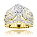 Ladies Diamond Rings 14K Cluster Diamond Ring 1.83ct