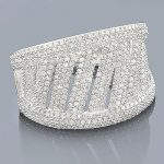 Ladies Pave Diamond Ring 1.23ct 14K