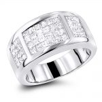 Ladies Princess Cut Diamond Wedding Band 1.5ct 14K Gold