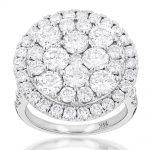 Large 5 carat Diamond Ring for Women in 14k Yellow Rose or White Gold