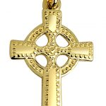 Large Cross Pendant Necklace in 9ct Gold