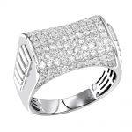 Luxurman 2 carat Mens Diamond Ring 10k Gold Pinky Ring