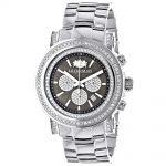 Luxurman Big Diamond Watch for Men 2.5ct Black MOP Escalade w Chronograph