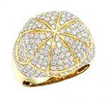 Luxurman Jewelry 14k Gold Statement Mens Diamond Ring 3.5ct