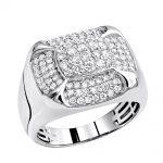 Luxurman Pinky Rings Real Diamond Ring for Men 1.5ct 10k Gold