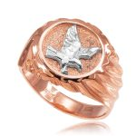 Men's American Eagle Ring in 9ct Rose Gold
