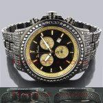 Mens Black Diamonds Watch 26.7ct Joe Rodeo Master Pilot