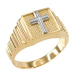 Men's Cross Ring in 9ct Gold