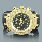 Mens Diamond Bezel Watch by Joe Rodeo: Master Model 2.20ct Yellow