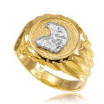 Men's Eagle Head Ring in 9ct Gold