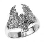 Men's Eagle Ring in Sterling Silver