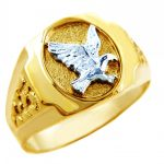 Men's Eagle Ring in 9ct Two-Tone Gold