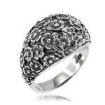 Men's Flower Bouquet Ring in Sterling Silver