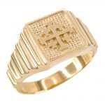 Men's Jerusalem Cross Ring in 9ct Gold