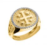 Men's 0.4ct Jerusalem Crusaders Ring in 9ct Gold