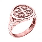 Men's Jerusalem Crusaders Ring in 9ct Rose Gold