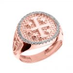 Men's 0.4ct Jerusalem Crusaders Ring in 9ct Rose Gold
