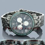 Mens Joe Rodeo Blue Diamond Watch 5.50ct Classic