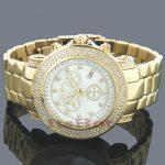 Mens Joe Rodeo Diamond Watch 2.5ct Yellow Gold Junior
