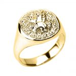 Men's Landing Eagle Ring in 9ct Gold