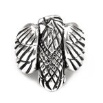 Men's Oxidised Eagle Ring in Sterling Silver