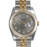 Mens ROLEX Oyster Watch Perpetual Datejust Grey