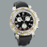 Mens White Yellow Diamond Watch by Benny and Co 7.50ct New Arrival