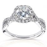 IGI Certified USA Lab Grown Diamond Engagement Ring 14K White Gold – Size 10