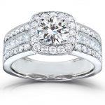 Round-cut Diamond Halo Engagement Ring 2 Carat (ctw) in 14k White Gold