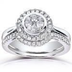 Round-cut Diamond Bridal Ring Set 3/8 Carat (ctw) in 10k White Gold (2 Piece Set)