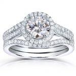 Round-cut Diamond 3-piece Bridal Ring Set 1 3/4 Carat (ctw) in 14k White Gold