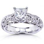 Princess-Cut Diamond Engagement Ring 1 1/6 Carat (ctw) in 14k White Gold