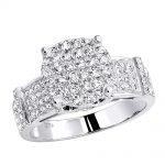 Pave Diamond Engagement Ring 0.82ct 14K