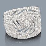 Pave Rings: 14K Gold Ladies Diamond Ring 1.35ct