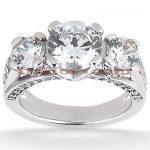 Platinum Diamond Engagement Ring 2.13ct