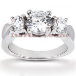 Thin Platinum Diamond Engagement Ring Mounting 0.30ct