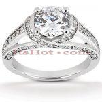 Platinum Diamond Engagement Ring Mounting 0.49ct