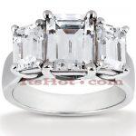 Platinum Diamond Engagement Ring Mounting 0.66ct