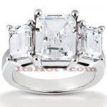 Thin Platinum Diamond Engagement Ring Mounting 0.66ct