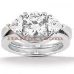 Platinum Diamond Engagement Ring Set 0.80ct