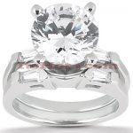 Platinum Diamond Engagement Ring Set 1.28ct