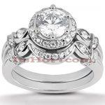 Platinum Diamond Engagement Ring Set 1.42ct