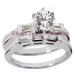 Platinum Diamond Engagement Ring Set 1.49ct