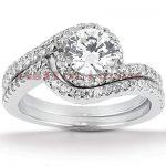 Platinum Diamond Engagement Ring Set 1.61ct