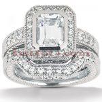 Platinum Diamond Engagement Ring Set 1.62ct
