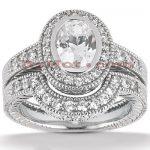 Platinum Diamond Engagement Ring Set 1.64ct