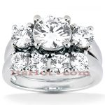 Platinum Diamond Engagement Ring Set 1.78ct
