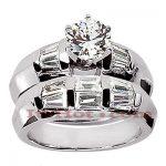Platinum Diamond Engagement Ring Set 2.06ct