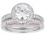 Platinum Diamond Engagement Ring Set 2.10ct