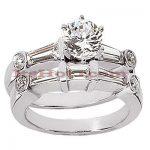 Platinum Diamond Engagement Ring Set 2.33ct
